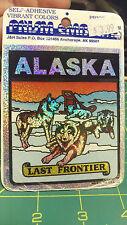Alaska Prism decal Sticker Alaska the Last Frontier - Dog Sled Team resting