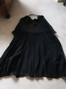 Rundholz Dip Tulle and sheer cotton Tunic Black OS