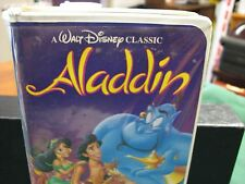 Aladdin VHS 1993 Walt Disney's Black Diamond Classic RARE  W/ Label Attached