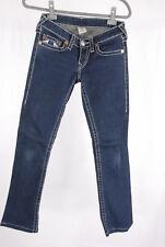 True Religion Jeans 27 dunkles blau rainbow Gina Baumwolle Hose stretch (82)