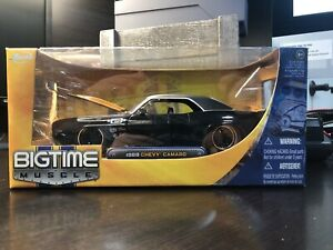 RARE - Jada Big Time Muscle 1:24 Diecast 1969 Chevy Camaro Z28 Black