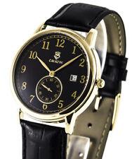 Cavadini -zentralsekunde Gold Plated Men's Watch Petite Second Quartz Model 2018