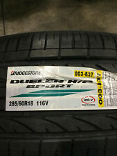 4 New 285 60 18 Bridgestone Dueler H/P Sport Tires