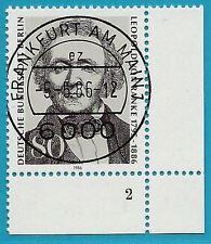 Berlin aus 1986 gestempelt MiNr.759 Ecke unten rechts - von Ranke! Formnummer 2!