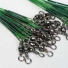 100PCs Lot  Fishing Trace Lures Leader Line Steel Wire Spinner 16/18/22/24/28cm