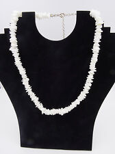 "New Hawaiian Island Beach Style 18"" Chipped Puka Shell Necklace  #N2129NP"