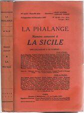 La SICILE revue la PHALANGE de Benito MUSSOLINI Umberto Ammirata Théocrite 1937