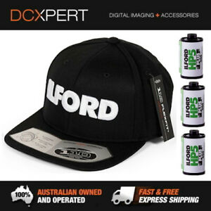 ILFORD FLEXFIT SNAPBACK CAP & 3 PACK OF HP5+ 24 EXPOSURE B&W FILM - (ILFORD110F)
