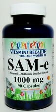 SAM-e 1000mg Pure 90 Capsules; Nervous System, Mood & Joints Health **Fresh