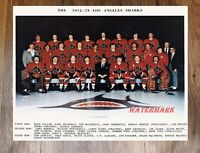 WHA 1972 - 73 Los Angeles Sharks 1st Season Color Team Picture 8 X 10 Photo