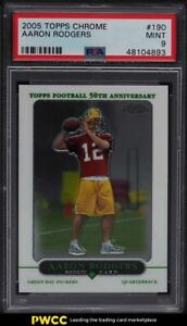 2005 Topps Chrome Aaron Rodgers ROOKIE RC #190 PSA 9 MINT