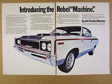 1970 AMC Rebel THE MACHINE red white blue car photo vintage print Ad