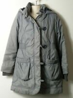 GIRLS MARKS & SPENCER AGE 7-8 YEARS GREY HOODED QUILTED PADDED COAT JACKET KIDS