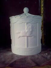 """Carousel Horse Canister 12"""" x 8"""" Ceramic Bisque U Paint, glazed inside"""