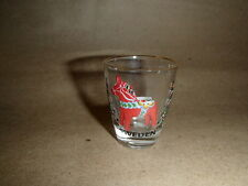 Scandinavian Swedish Shot Glass Dala Horse & Kurbits