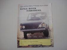 advertising Pubblicità 1984 RANGE ROVER TURBODIESEL
