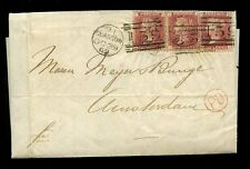 PENNY REDS 3d FRANKING to HOLLAND 1869 SCOTLAND Plate 121