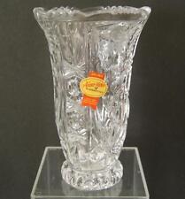 """Anna Hutte Bleikristall 24% Lead Crystal Multi-Faceted Geometries Vase 6"""" Tall"""