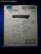 Sony Service Manual SCD XE680 Super Audio CD Player (#5891)