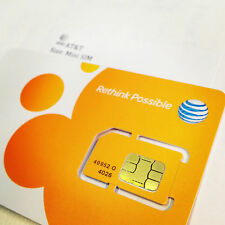 AT&T USA prepaid Mini SIM card - ATT US 4G/LTE, Aust Seller Fast Free Shipping