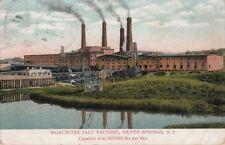 Postcard Worcester Salt Factory Silver Springs NY