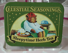 Celestial Seasonings Sleepytime Tea Teddy Bear Tin Maria Edgeworth quote 2012