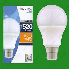 4x 15W (=100W) LED Pearl GLS Light Bulb Standard Shape BC Bayonet Cap B22 Lamp