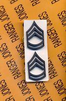 US Army SFC Sergeant First Class E-7 Duty Uniform rank badge set pair