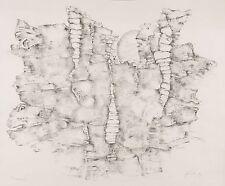 WIELAND FÖRSTER - Labyrinth I (Fossiler Fels) - Kreidelithografie 1974