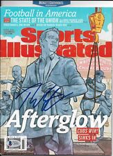 THEO EPSTEIN signed SPORTS ILLUSTRATED WORLD SERIES CHICAGO CUBS w/COA BECKETT