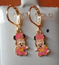 14K Gold Filled PINK BABY MINNIE MOUSE hanging Earrings / Teenager / Little Girl