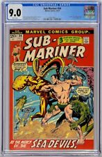 Sub-Mariner 54 Marvel 1972 CGC 9.0 VF/NM Dragon-Lord Namorita Sunfire Appearance