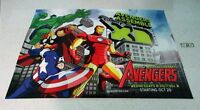 HUGE 68x47 Marvel Avengers poster:Hulk/Thor/Iron Man/Captain America/Marvelmania