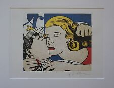 """Roy Lichtenstein """"The Kiss"""" Lithograph plate signed"""