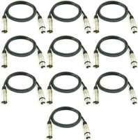 10x 1 m Mikrofonkabel 3 pol XLR DMX Adam Hall Mikrofon Kabel Neutrik kompatibel