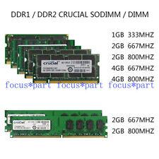 1GB 2GB 4GB 8GB DDR DDR2 667/800MHZ Laptop SODIMM Desktop DIMM Memory Ram lot