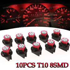 10x Red T10 8SMD LED Instrument Panel Lights Dashboard Lamp + Holder for Toyota