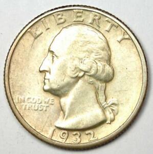1932-D Washington Quarter 25C - Choice XF / AU Details - Key Date Coin!