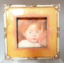 """Jay Strongwater frame Swarovski Crystals New Without Box 3 1/2"""" Square"""