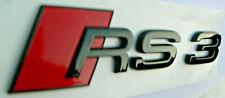 Original Audi RS3 Emblem Schriftzug Audi A3 8V  neu schwarz / LOGO / Zeichen 122
