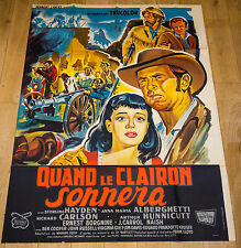 RARE ! Affiche de cinéma : QUAND LE CLAIRON SONNERA de FRANCK LLOYD
