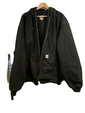 Carhartt J131-BLK Mens 4 XL Black Hooded Jacket