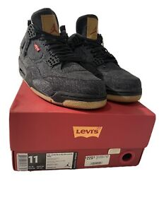 Nike Air Jordan Retro 4 'Levi's Black' US 11 2018 DS