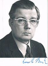 """Germany Deutschland CDU Ernst Benda 1925-2009 autograph signed 4""""x6"""" photo"""