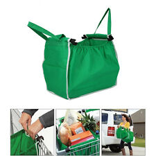 Large Supermarket Grab Washable Eco Reusable Bag Shopping Totes Handbag Pocket