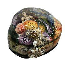 Gorgeous Kholui Russian Lacquer Box MERMAID #4107 Abalone shell