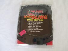 PINE RIDGE ARCHERY KWIK SLING - BRAIDED BOW WRIST SLING - SILVER / BLACK