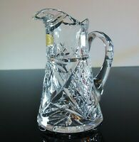 ANCIENNE PETIT BROC CRUCHE CRISTAL SOUFFLE TAILLE VAL ST LAMBERT SIGNE