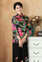 Chinese Traditional  Blouse Women Cotton Shirt Summer Tops Size M-4XL
