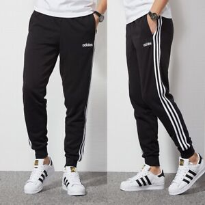 Adidas 3S Jogginghose Hose Pant Logo Trainingshose Innenfleece Warm Schwarz